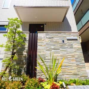 3-300x300 天然石の素材で門塀の品格を上げた名古屋市瑞穂区のナチュラルでミニマルな新築外構工事