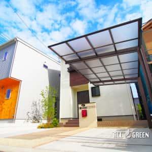 inazawashi_o_03071_1-300x300 温かみある暖色系の中に光るワインレッドのオリジナルポストがアクセントカラーとなった稲沢市の新築外構デザイン