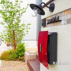 inazawashi_o_03071_2-300x300 温かみある暖色系の中に光るワインレッドのオリジナルポストがアクセントカラーとなった稲沢市の新築外構デザイン