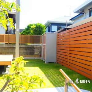 mizuhoku_h_02514_2-300x300 名古屋市瑞穂区のアルミ色と暖かみある木調色を組み合わせた優しい印象のシンプルモダン新築外構工事