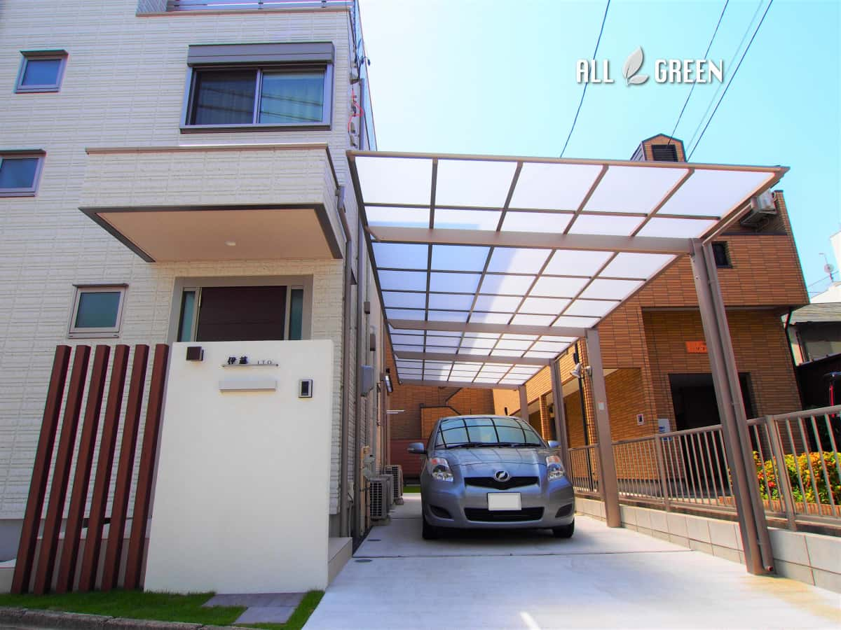 mizuhoku_i_03053_2 名古屋市瑞穂区の縦2連棟カーポートと省管理な裏庭の新築外構計画