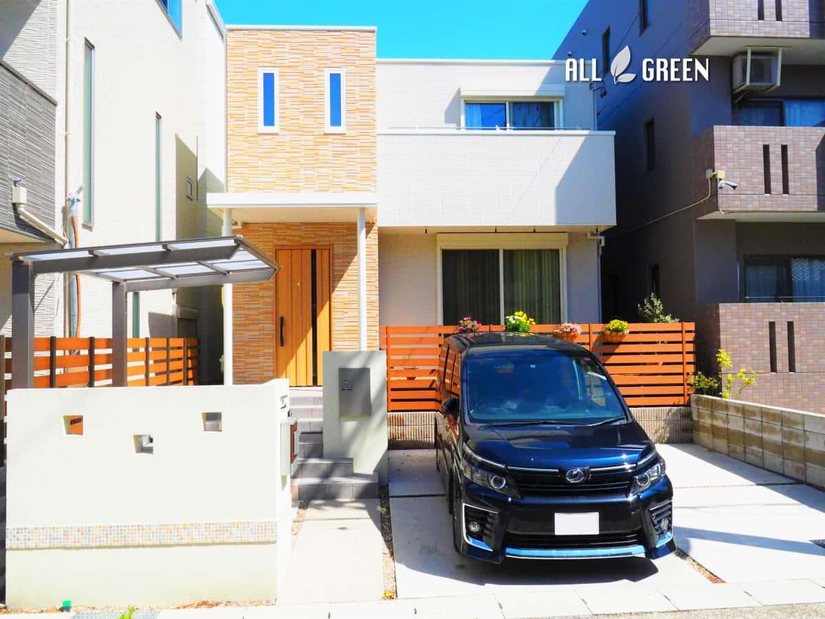 shikusaku_y_02445_2 名古屋市千種区のナチュラルな装飾ある門まわりの新築外構工事
