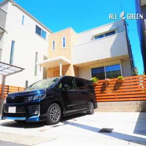 shikusaku_y_02445_4-300x300 名古屋市千種区のナチュラルな装飾ある門まわりの新築外構工事