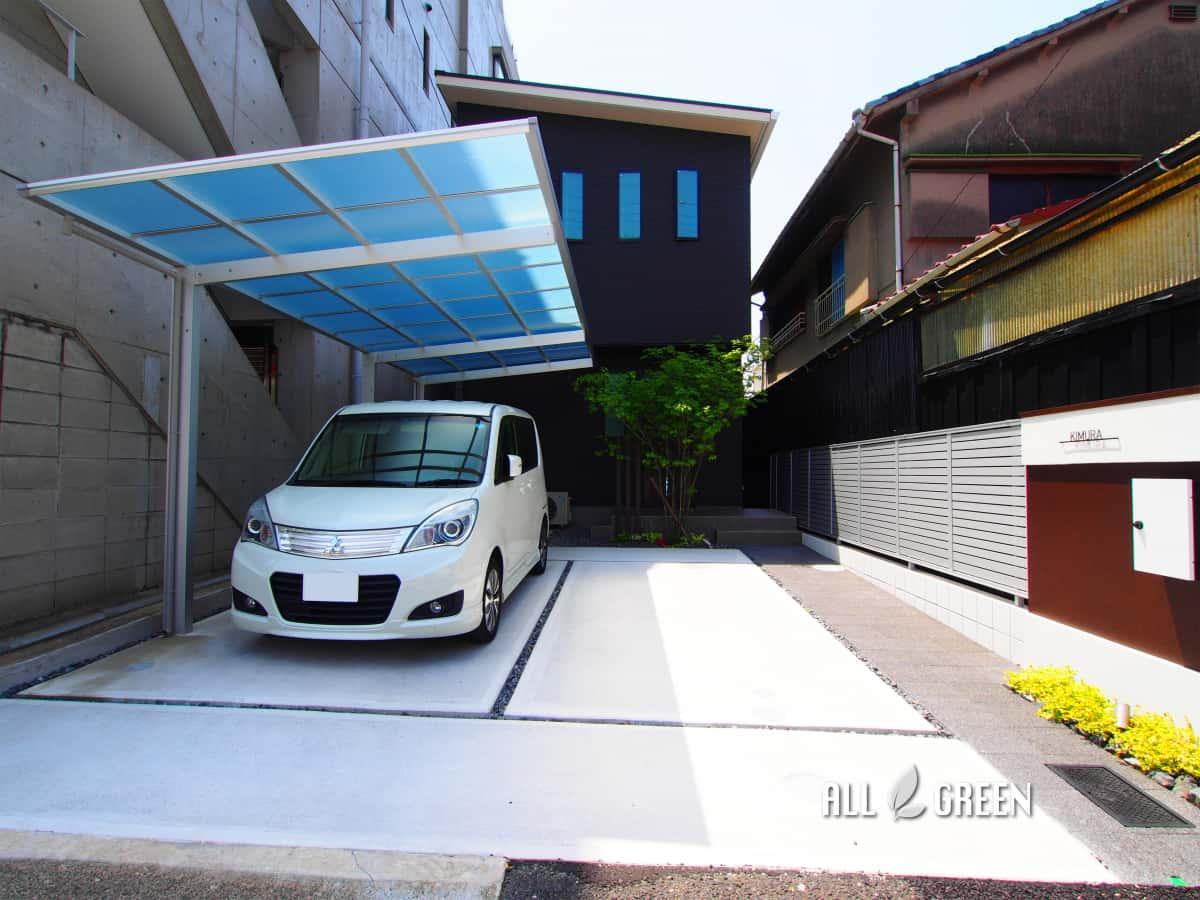 syouwaku_k_02761_3 アートボードによるアクセントを設けたモダンな門塀の名古屋市昭和区のミニマル外構デザイン