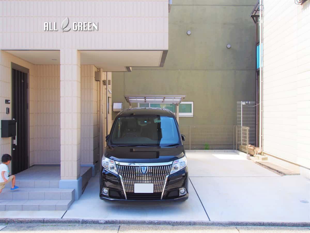 syouwaku_t_02814_2 名古屋市昭和区のアルミ製品を主体としたシンプルモダンな新築外構工事