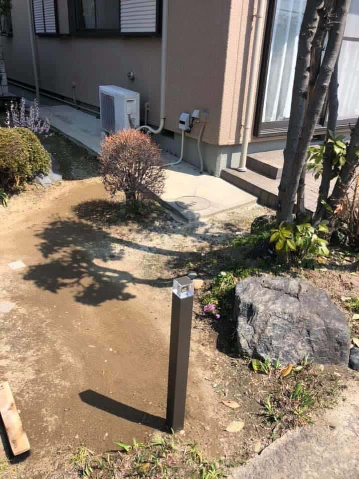 E1CB81EC-681C-4B71-BB5B-D48C8ADDE0F6 清須市I様邸 ガーデンライト設置リフォーム工事