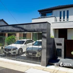 chikusa_o_03613_5-300x300 艶のあるタイルとシャッターゲートが特徴の名古屋市千種区にあるクローズ外構