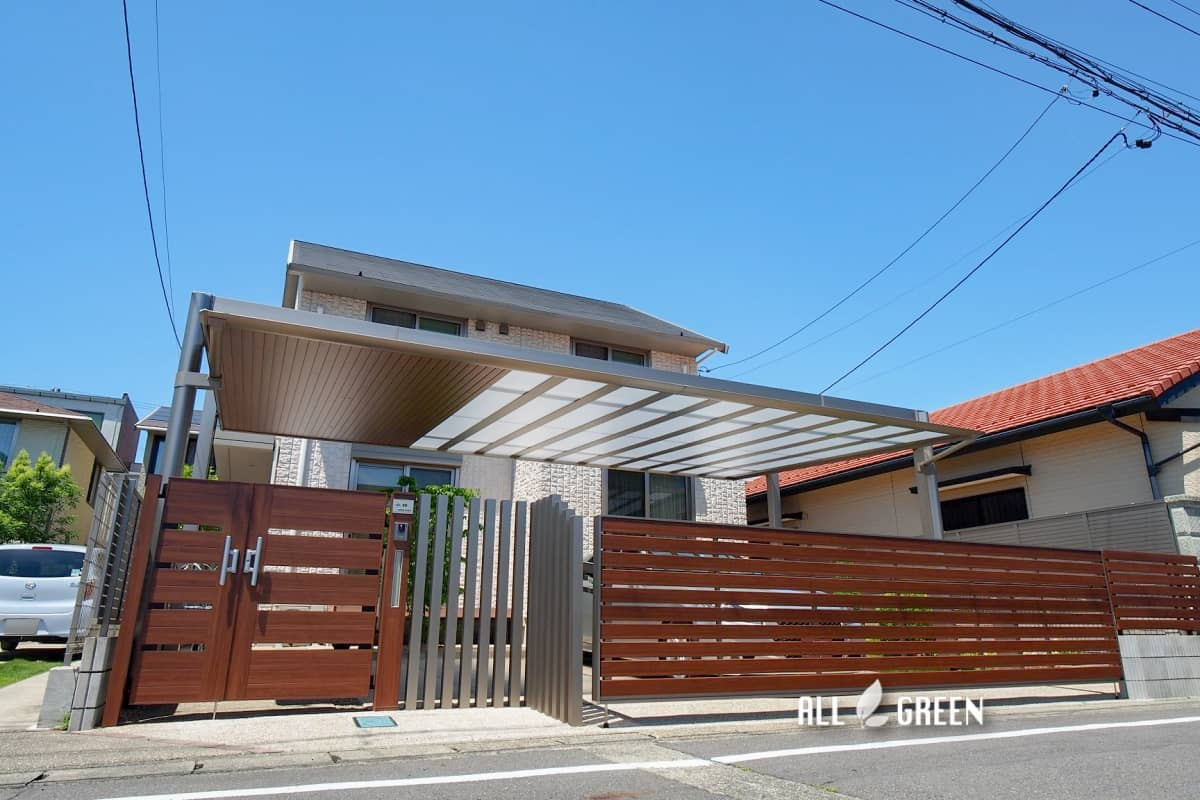 iwakura_k_03795_5 駐車スペースを中心とした北名古屋市の大型リフォーム外構