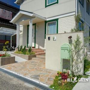 inazawa_n_03794_6-300x300 門周りに華やかさを!稲沢市にある北欧感溢れる優しい色合いの新築外構
